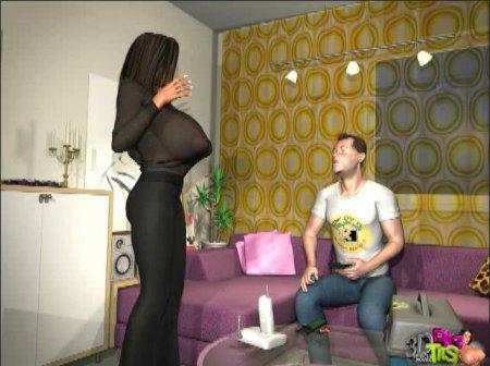 Giant Breasts - 3D Adult Cartoons