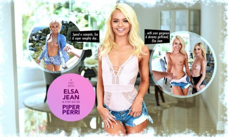 A day with Elsa Jean & step-sister, Piper Perri