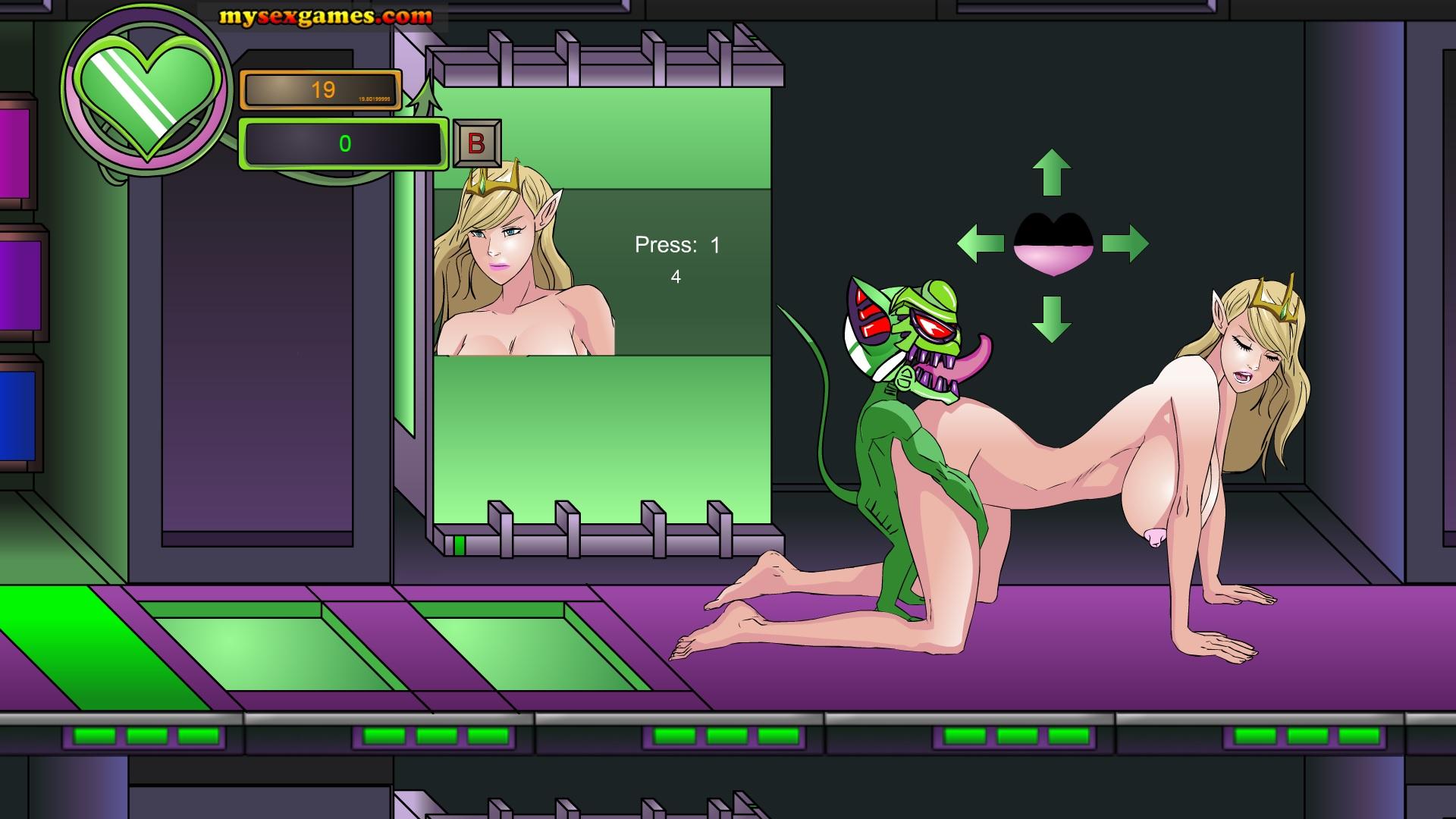 Смотреть прохождение порно-игры, бешеная ебля телки с двумя хуями